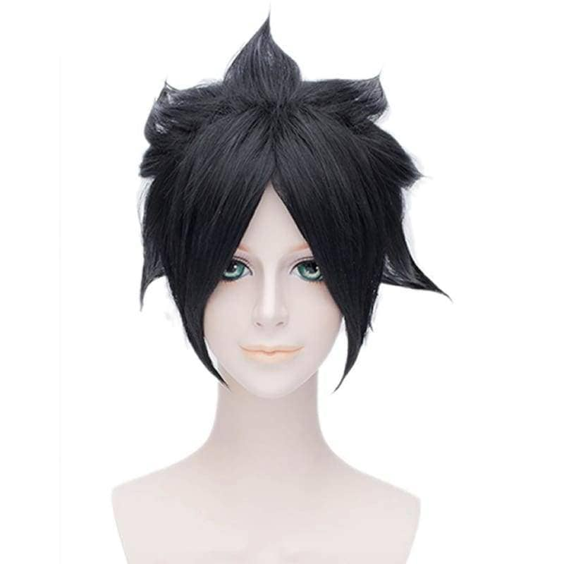 Sasuke Uchiha Wig Naturo Cosplay Short Black Anime With Headband - Wigs 1