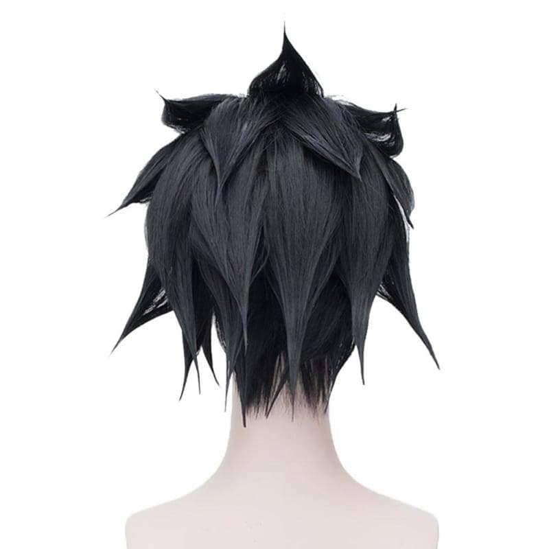 Sasuke Uchiha Wig Naturo Cosplay Short Black Anime With Headband - Wigs 2