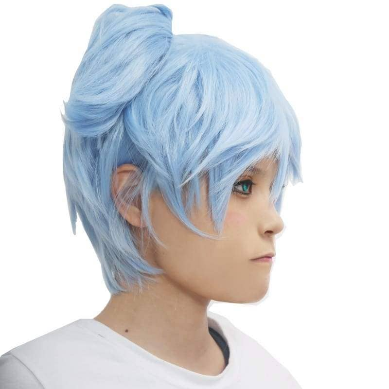 Shiota Nagisa Wig Assassination Classroom Cosplay Ice Blue - Wigs 4