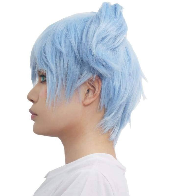Shiota Nagisa Wig Assassination Classroom Cosplay Ice Blue - Wigs 5