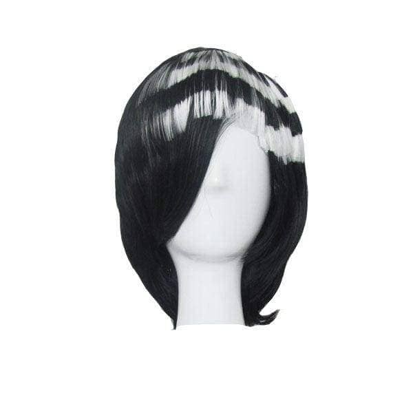 Soul Eater Death The Kid Cosplay Prop Black With White Wig Party Hair - Wigs 1