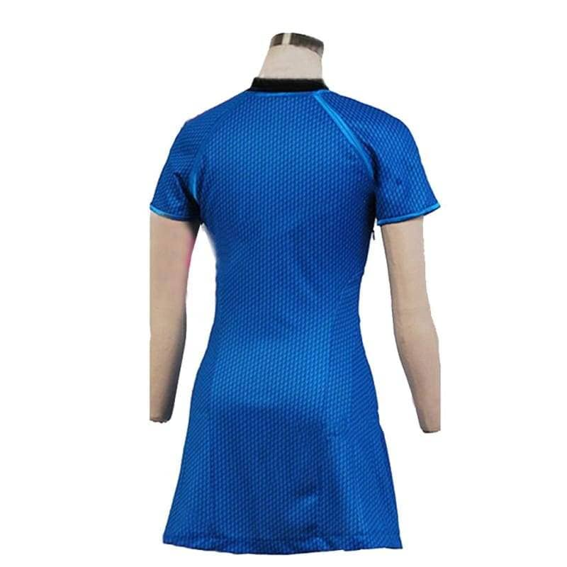 Star Trek Into Darkness Marcus Uniform Blue Dress Cosplay Costume For Woman - T-Shirts 3
