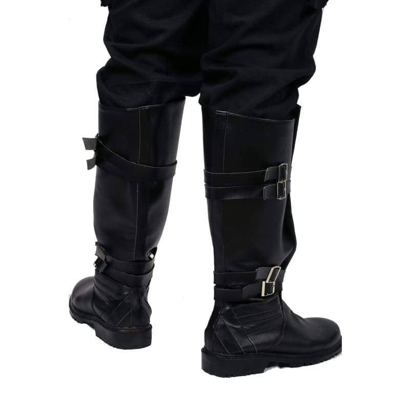 Star Wars Kylo Ren Riding Boot Black Pu Cosplay Shoes - Boots 4