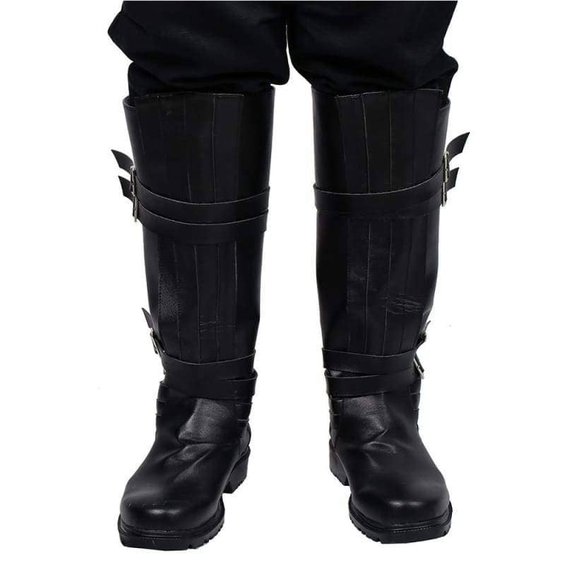 Star Wars Kylo Ren Riding Boot Black Pu Cosplay Shoes - Boots 1