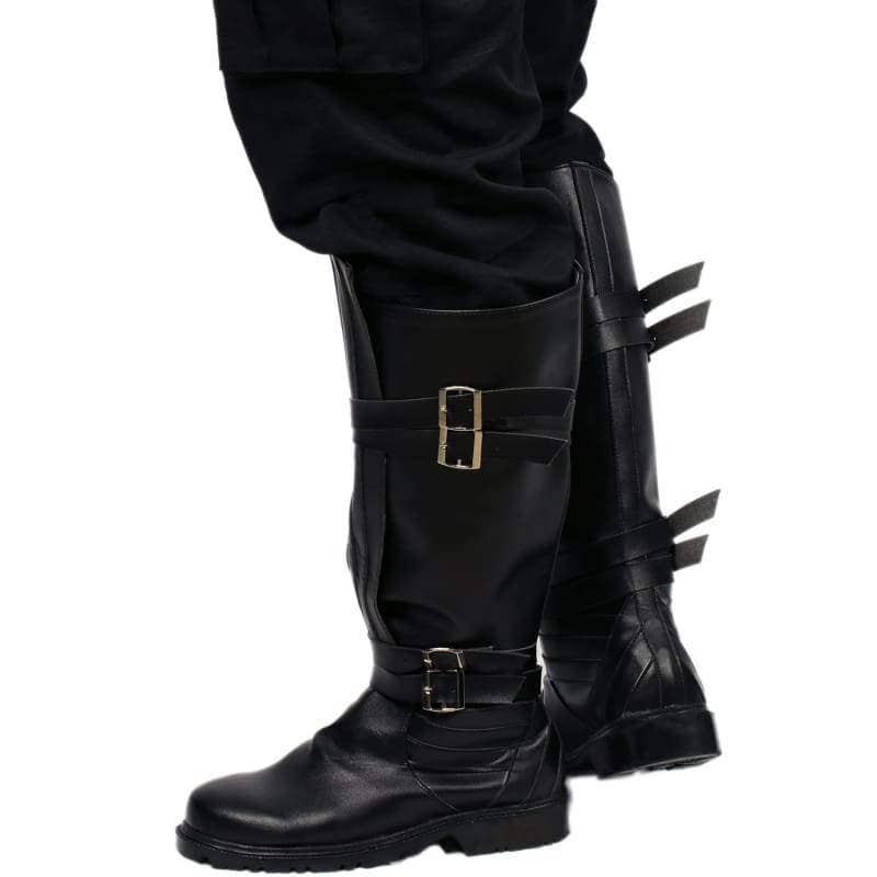 Star Wars Kylo Ren Riding Boot Black Pu Cosplay Shoes - Boots 5