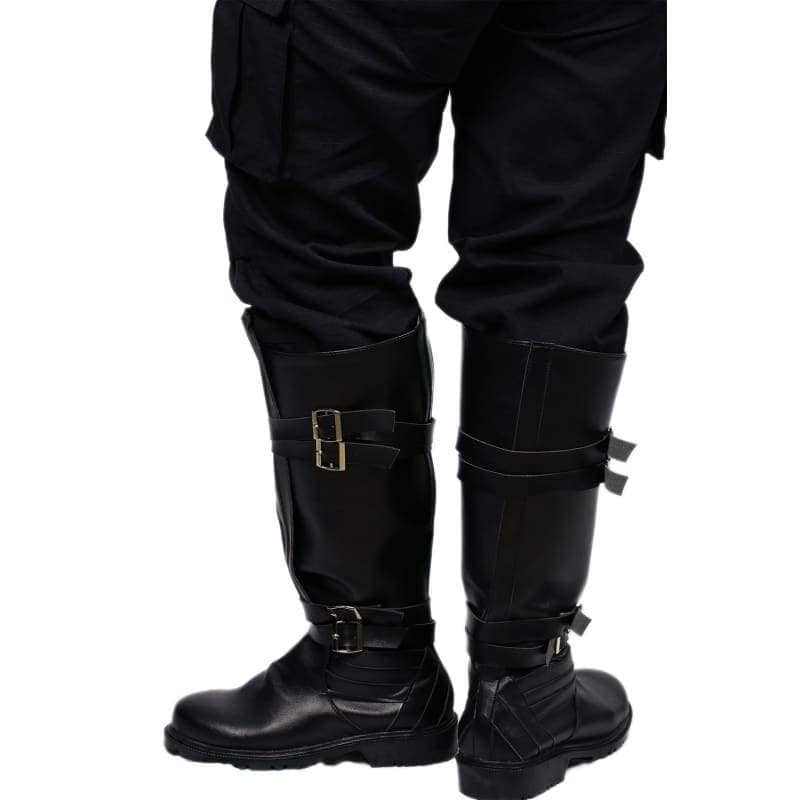Star Wars Kylo Ren Riding Boot Black Pu Cosplay Shoes - Boots 6