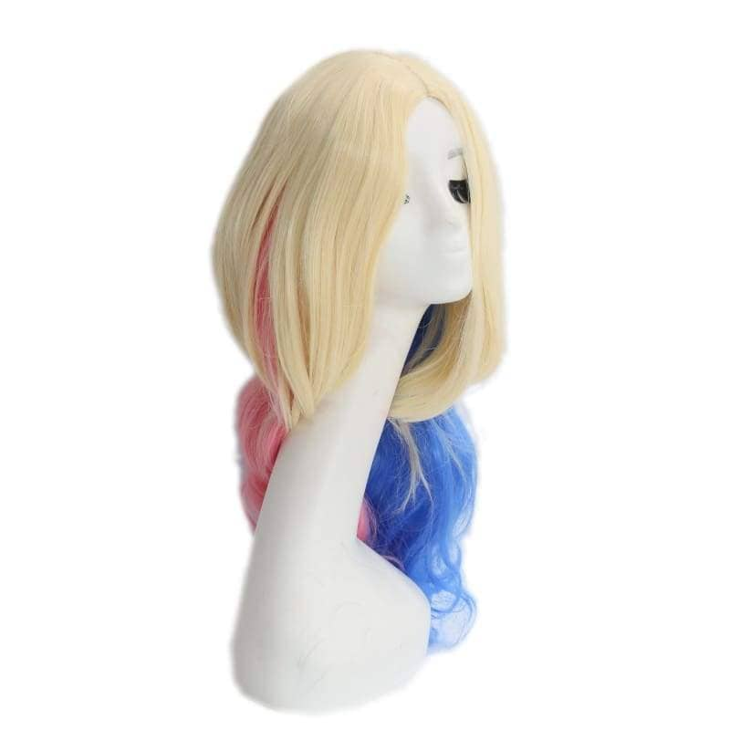 Suicide Squad Harley Quinn Wig Long Wavy Blue And Pink Gradient - Wigs 5