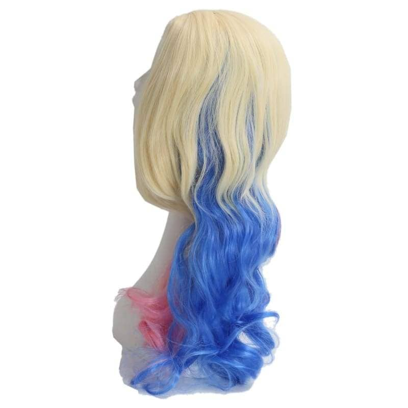 Suicide Squad Harley Quinn Wig Long Wavy Blue And Pink Gradient - Wigs 4