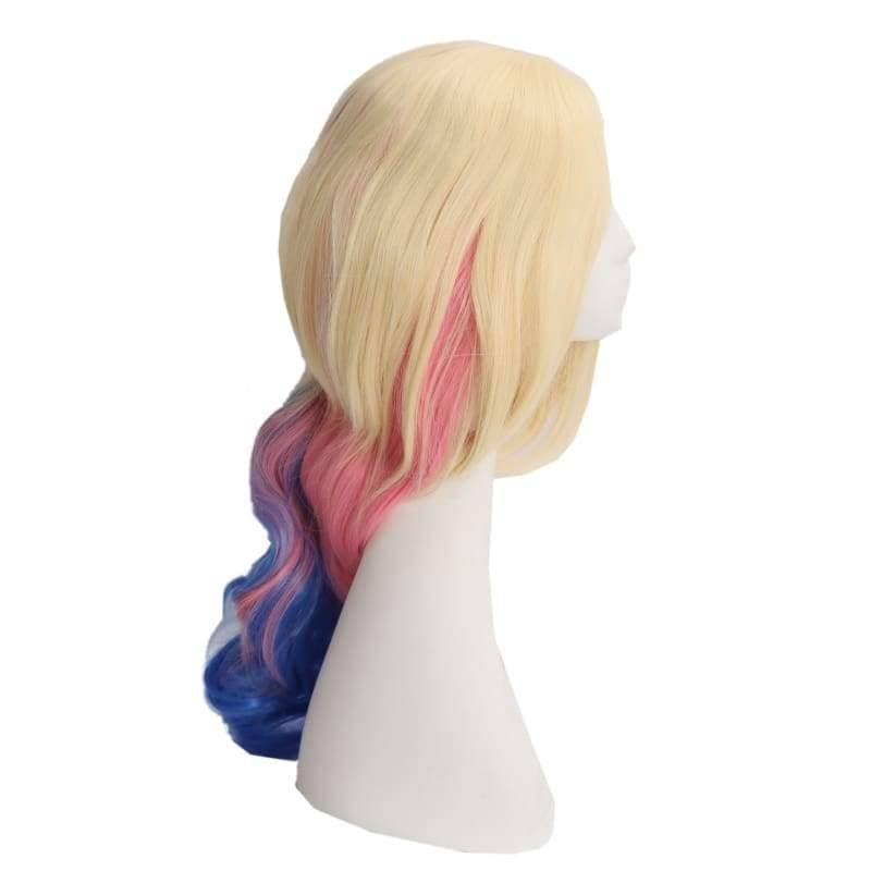 Suicide Squad Harley Quinn Wig Long Wavy Blue And Pink Gradient - Wigs 6