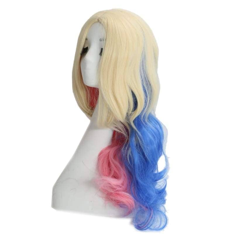 Suicide Squad Harley Quinn Wig Long Wavy Blue And Pink Gradient - Wigs 2