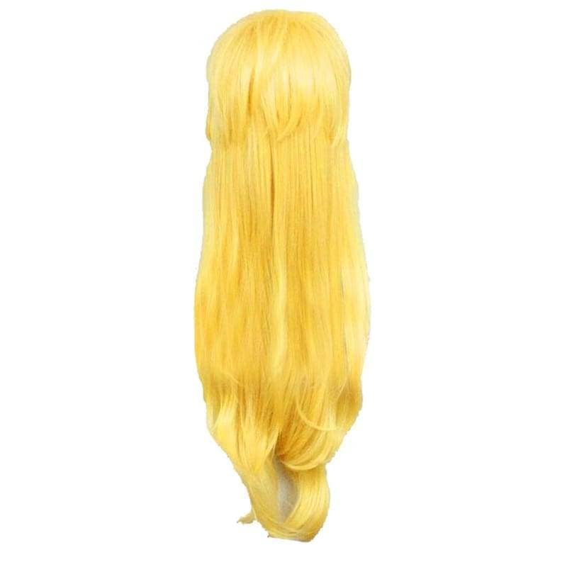 Super Mario Princess Peach Wig 80Cm Long Wavy Yellow Cosplay - Wigs 2