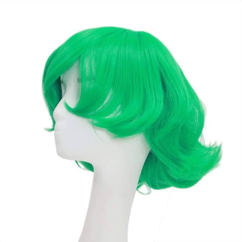 Terrible Tornado Wig One Punch Man Cosplay Synthetic Short Green Curly 42Cm - Wigs 3