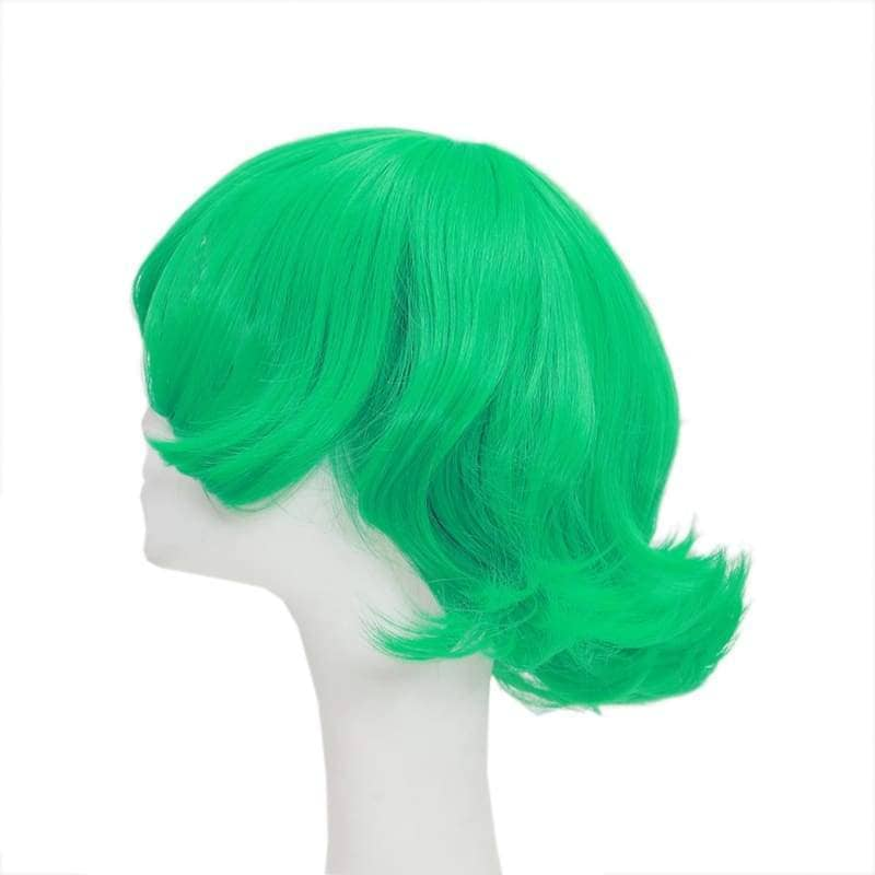 Terrible Tornado Wig One Punch Man Cosplay Synthetic Short Green Curly 42Cm - Wigs 4