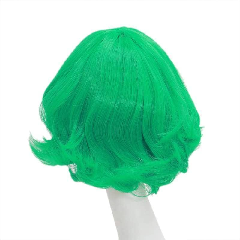 Terrible Tornado Wig One Punch Man Cosplay Synthetic Short Green Curly 42Cm - Wigs 2