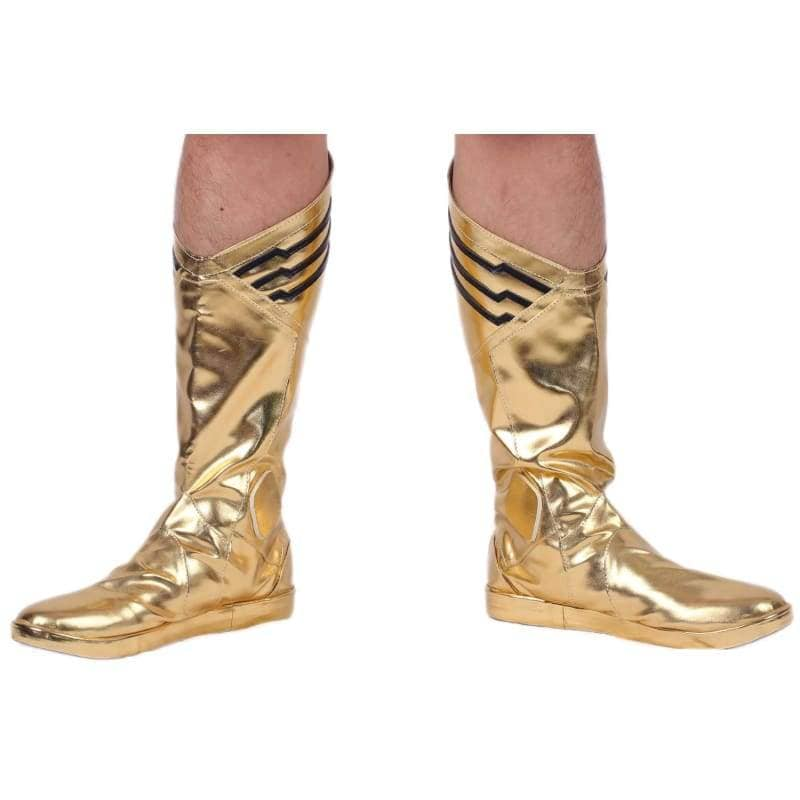The Flash Comic Boots Bright Golden Pu Cosplay Shoes - 2
