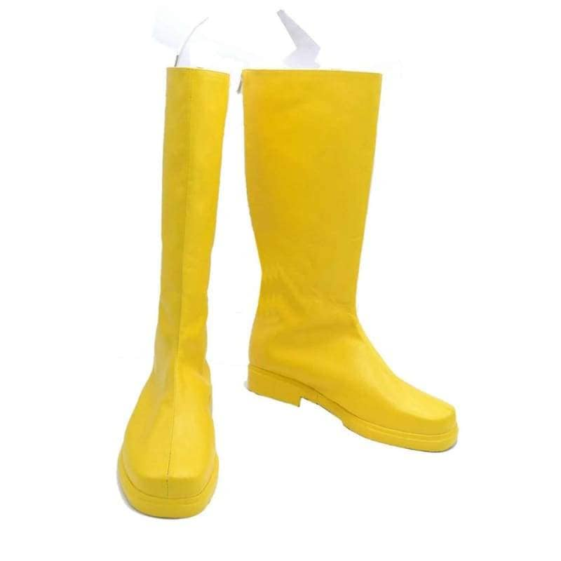 The Flash Cosplay Boots Yellow Pu With Logo - 1