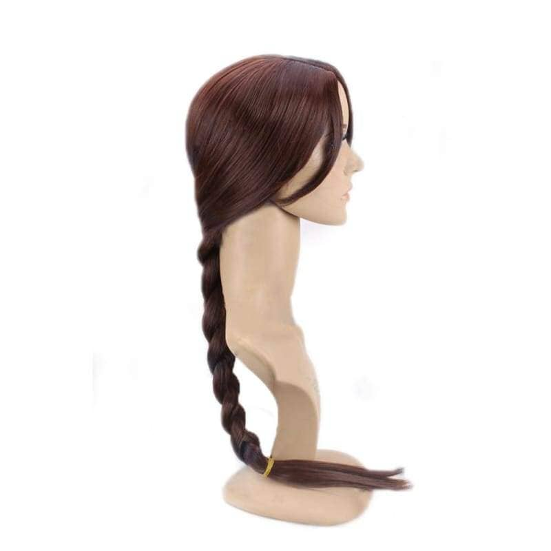 Tomb Raider Lara Croft Wig Brown Long Braided Hair Cosplay Props - Wigs 3