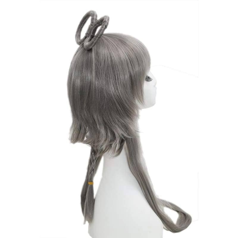 Vocaloid China Cosplay Prestyled Long Dark Grey Straight Anime Party Wigs With Free Wig Cap - 4