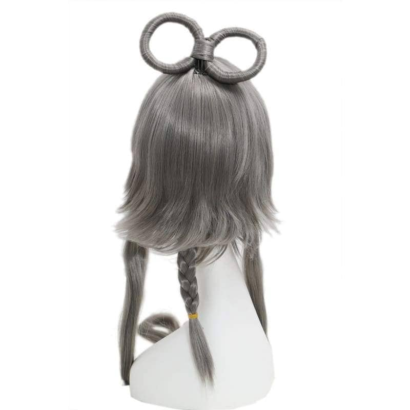 Vocaloid China Cosplay Prestyled Long Dark Grey Straight Anime Party Wigs With Free Wig Cap - 3