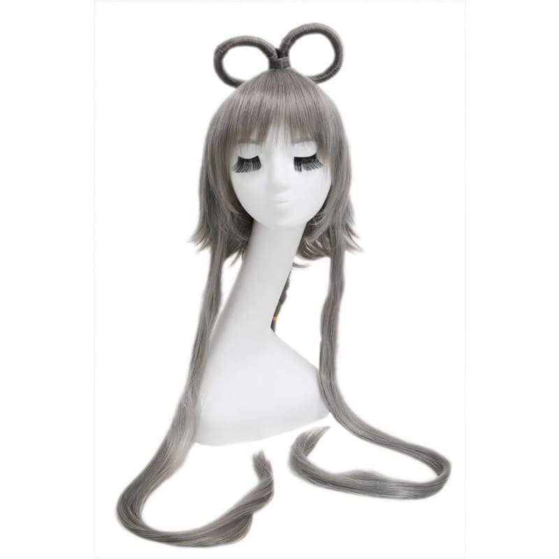 Vocaloid China Cosplay Prestyled Long Dark Grey Straight Anime Party Wigs With Free Wig Cap - 1