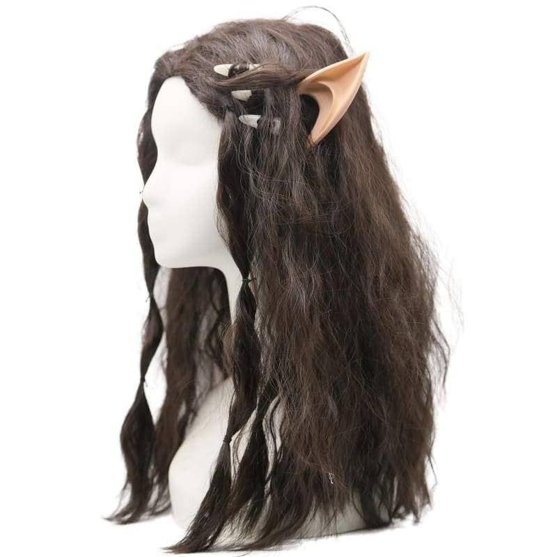 Warcraft Garona Wig Movie Cosplay Costume Brown Long wavy Curly Hair Accessories WigsGarona Wig- Xcoser International Costume Ltd.