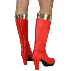 Wonder Woman Cosplay Shoes Red Pu For - Boots 3