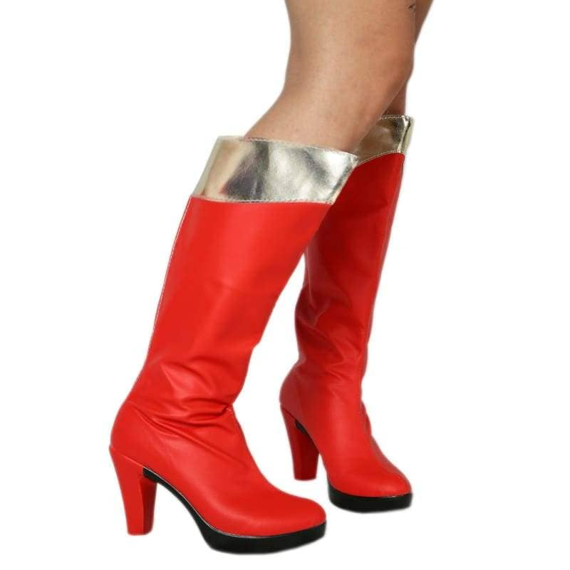 Wonder Woman Cosplay Shoes Red Pu For - Boots 2