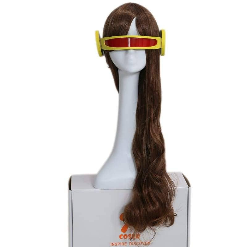 X-Men Cyclops Woman Version Slightly Curly Brown Long Wig - Wigs 1