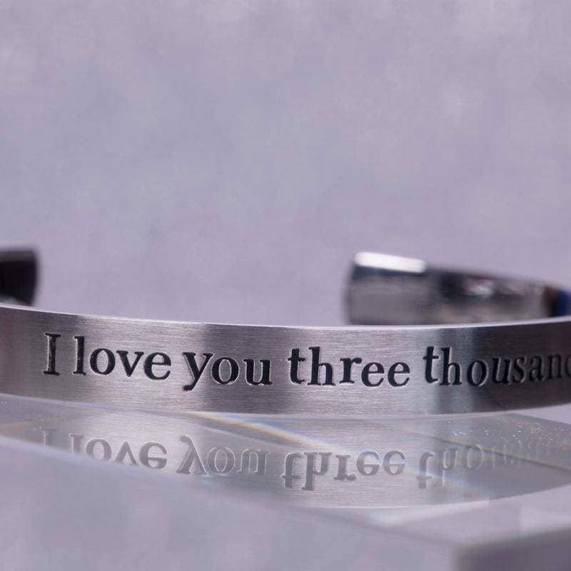 Xcoser Avengers: Endgame Avengers Love You Three Thousand Times Iron Man Bracelet - Jewelry 6