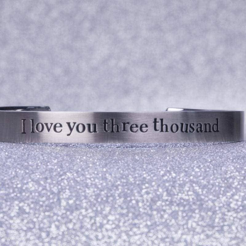 Xcoser Avengers: Endgame Avengers Love You Three Thousand Times Iron Man Bracelet - Jewelry 8