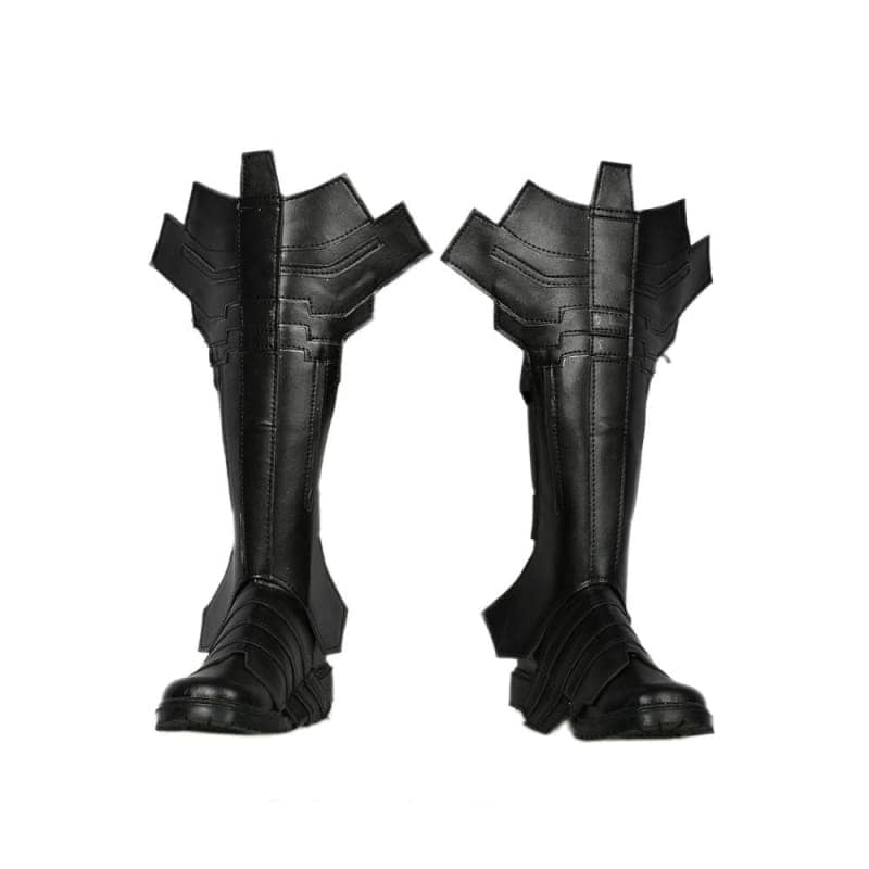 Xcoser Batman Combat Boots Deluxe Black Leather Cosplay Shoes - 1