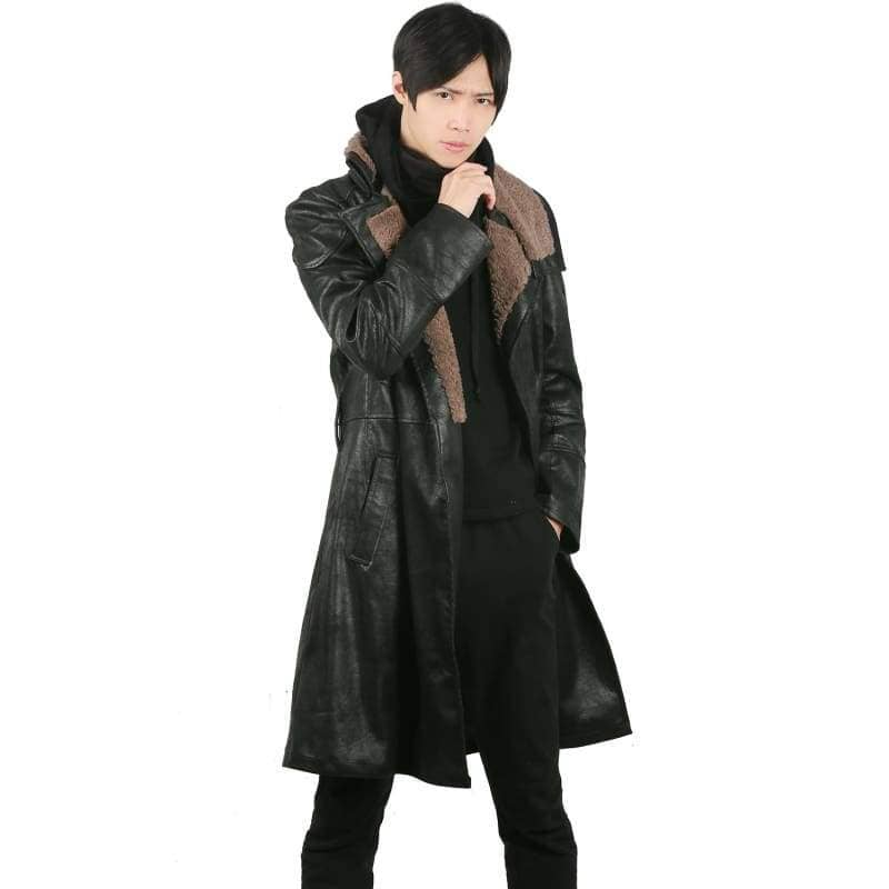 Xcoser Blade Runner 2049 Movie Cosplay LAPD Officer K Thicken PU Leather Coat Costume CostumesS- Xcoser International Costume Ltd.