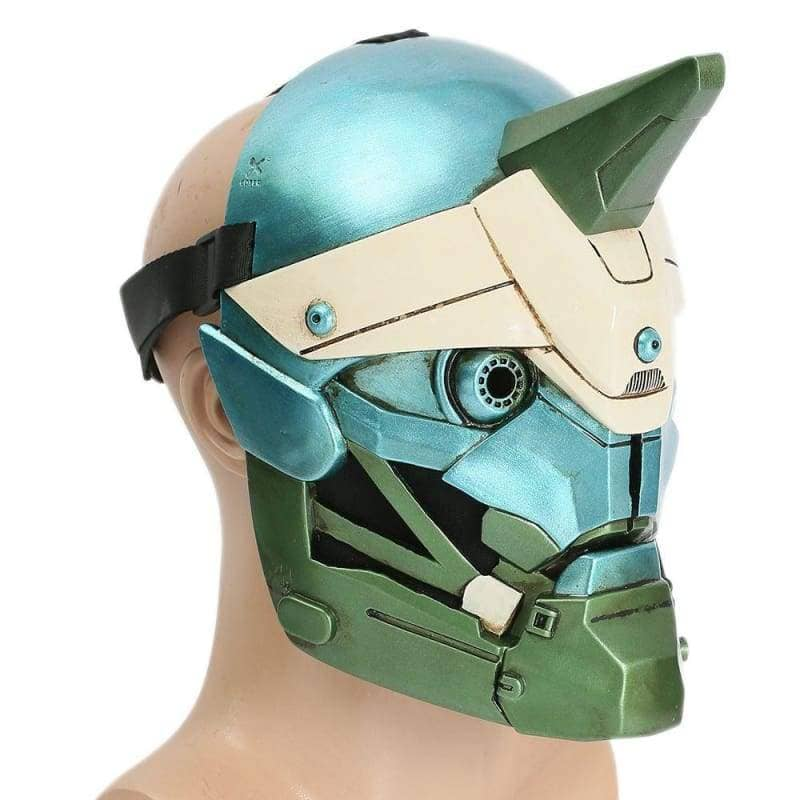 Xcoser Destiny 2 Cayde 6 Cyan-blue & Green Helmet Game Cosplay Mask Helmet- Xcoser International Costume Ltd.