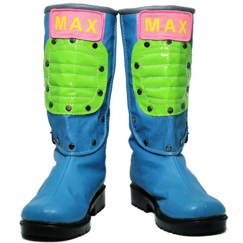 Xcoser Dragon Ball Bulma Shoes Blue PU Cosplay Boots for Adults