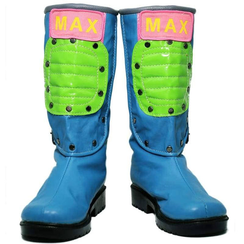 Xcoser Dragon Ball Bulma Shoes Blue Pu Cosplay Boots For Adults - Custom Made - 1