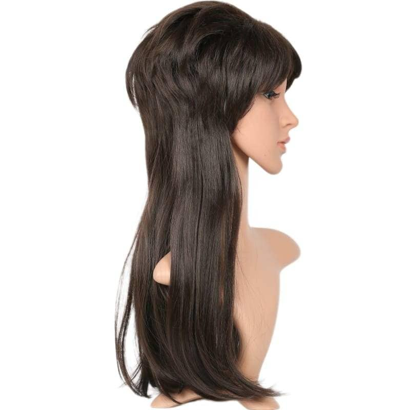 Xcoser Elvira Wig Long Straight Black Elviras Movie Macabre Cosplay Props Halloween - Wigs 5