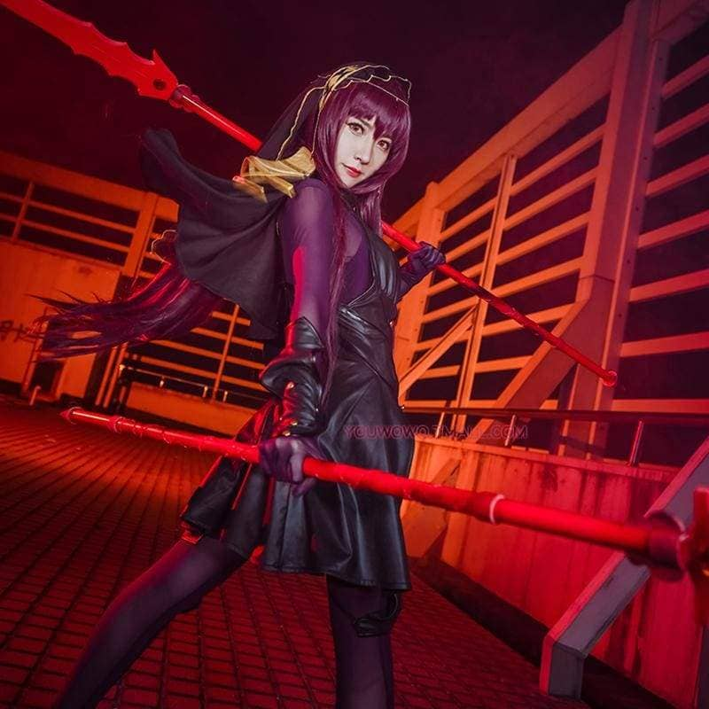 Xcoser Fate Lancer Scathach Cosplay Costume - Costumes 4
