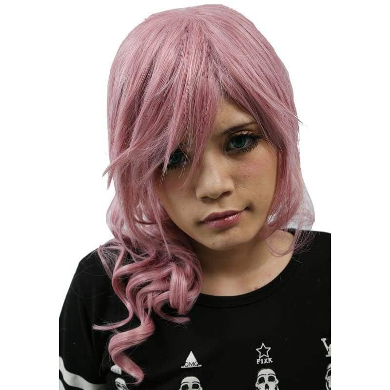 Xcoser Final Fantasy Lightning Long Purplish Pink Wig Cosplay - Wigs 2