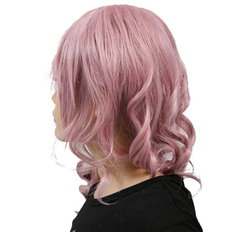 Xcoser Final Fantasy Lightning Long Purplish Pink Wig Cosplay - Wigs 5