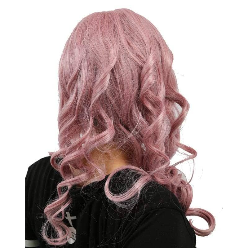 Xcoser Final Fantasy Lightning Long Purplish Pink Wig Cosplay - Wigs 7