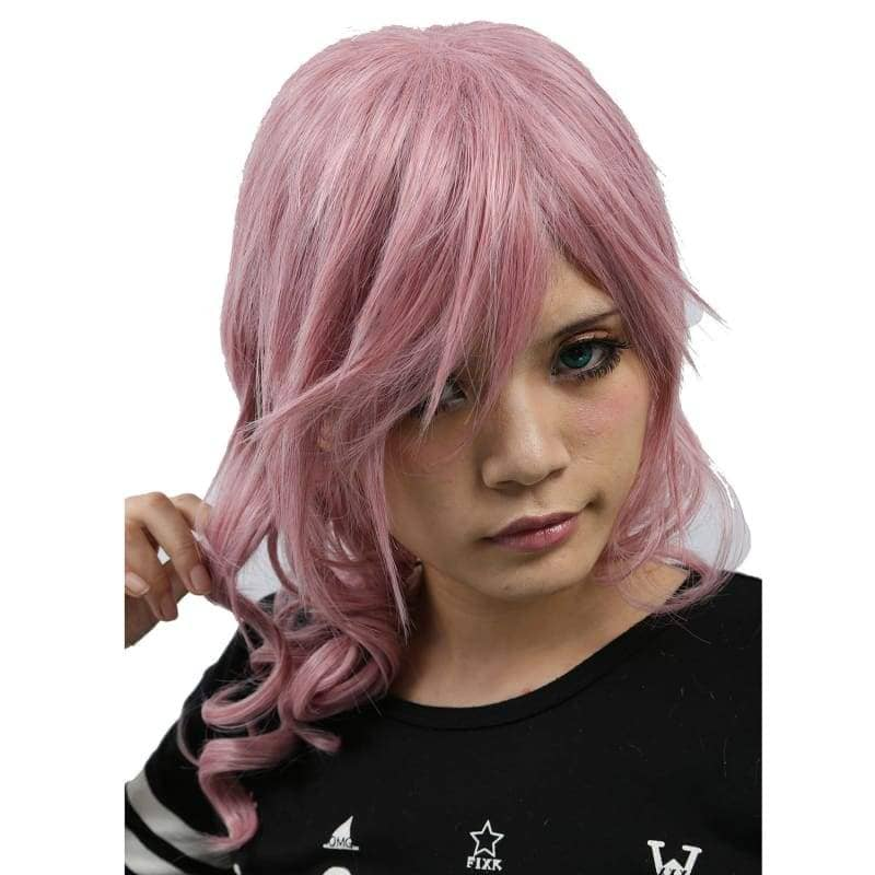 Xcoser Final Fantasy Lightning Long Purplish Pink Wig Cosplay - Wigs 4