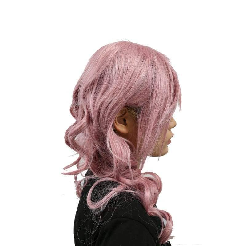 Xcoser Final Fantasy Lightning Long Purplish Pink Wig Cosplay - Wigs 6