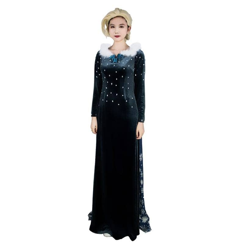 XCOSER Frozen 2 Elsa Cosplay Blue Costume With Cloak CostumesS- Xcoser International Costume Ltd.