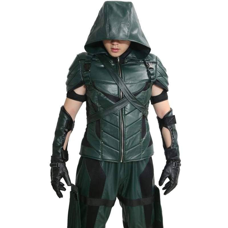 Xcoser Green Arrow Season 4&5 Cosplay Costume Oliver Queen Outfit CostumesXXL- Xcoser International Costume Ltd.