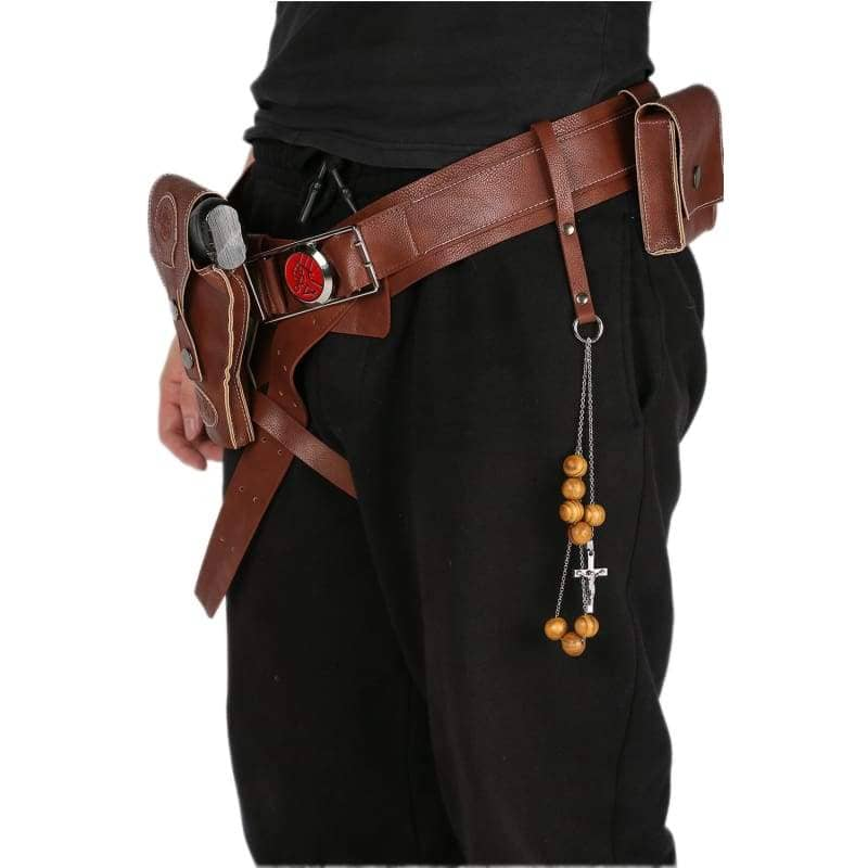 Xcoser Hellboy Belt With Gun Holster Pu Costume Accessories Movie Cosplayonly For The United States¡§o - Props 5