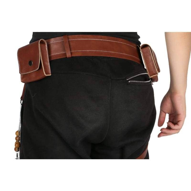 Xcoser Hellboy Belt With Gun Holster Pu Costume Accessories Movie Cosplayonly For The United States¡§o - Props 3