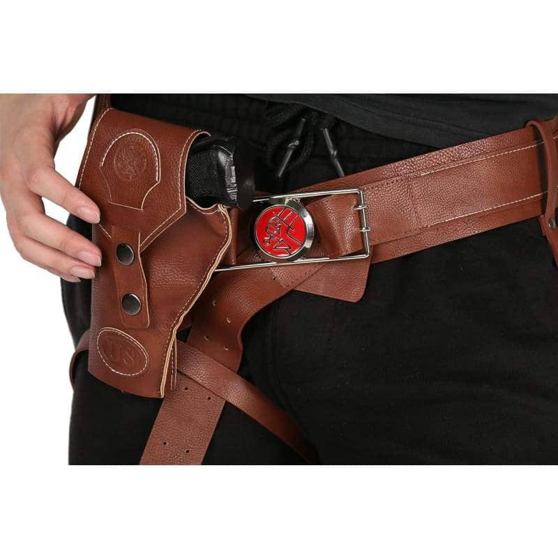 Xcoser Hellboy Belt With Gun Holster Pu Costume Accessories Movie Cosplayonly For The United States¡§o - Props 4
