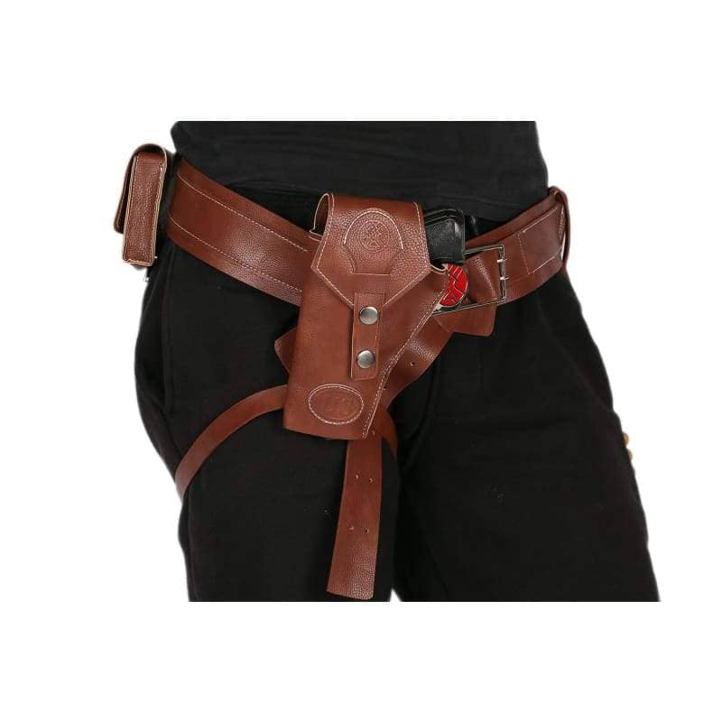 Xcoser Hellboy Belt With Gun Holster Pu Costume Accessories Movie Cosplayonly For The United States¡§o - Props 2