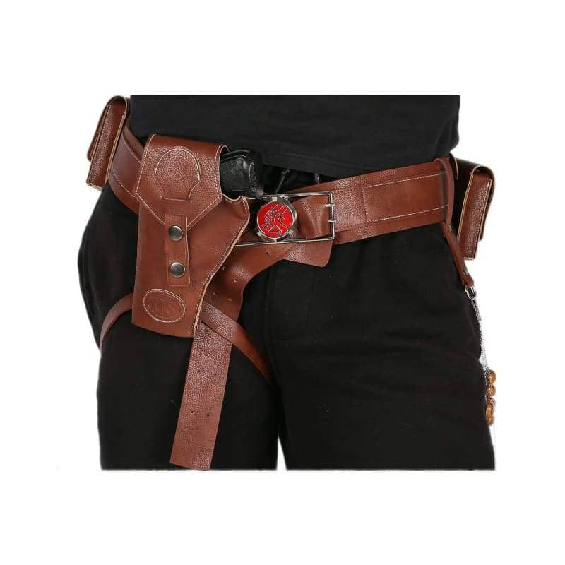 Xcoser Hellboy Belt With Gun Holster Pu Costume Accessories Movie Cosplayonly For The United States¡§o - Props 1