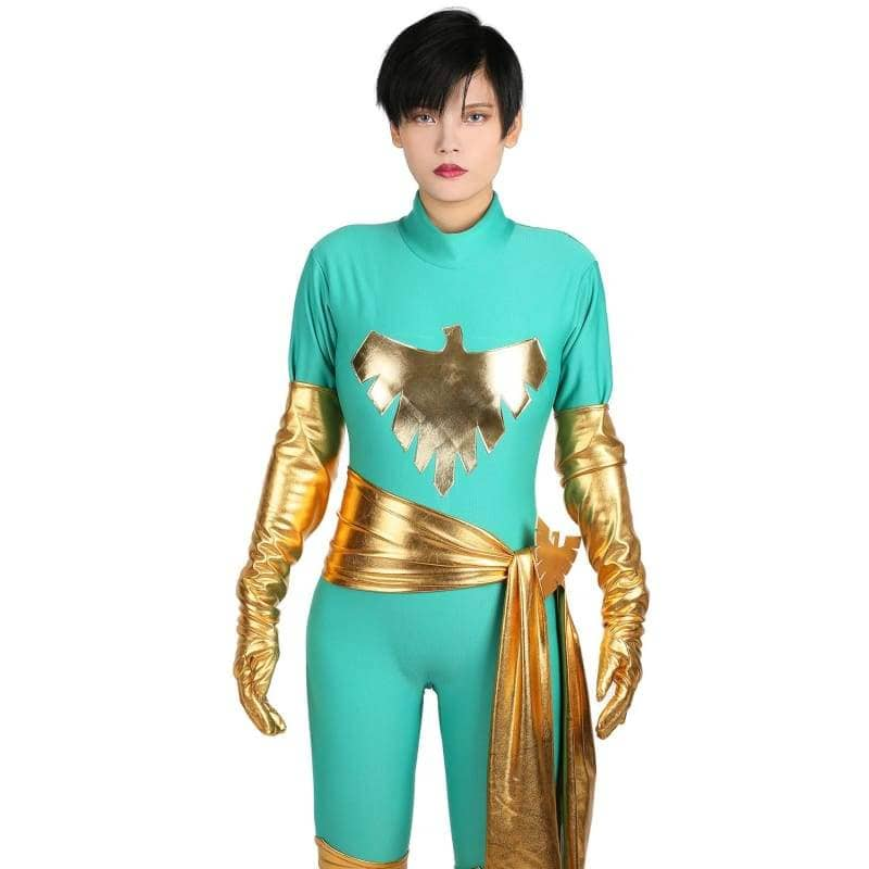 Xcoser Marvel Comics Jean Grey Cosplay Costume Phoenix Catsuit Trendy Womens Bodysuit - Costumes 6